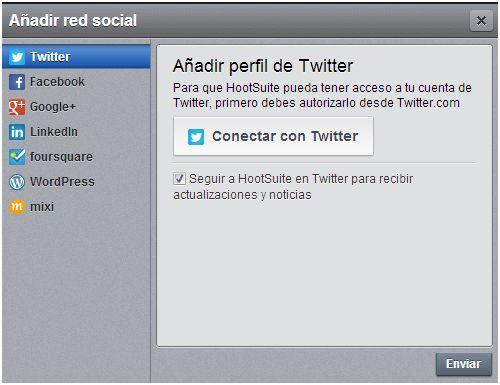 Añadir red Twitter