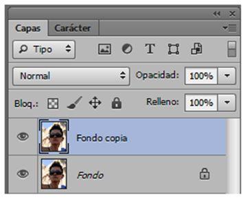 Duplicar Capa en Photoshop.