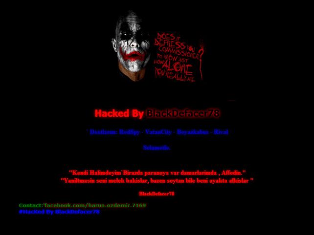Impresión de pantalla de la página hackeada.