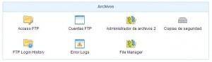 Sección Archivos/Acceso FTP