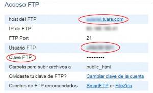 Datos de Acceso FTP