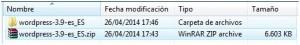 Descomprimir el archivo zip descagado.