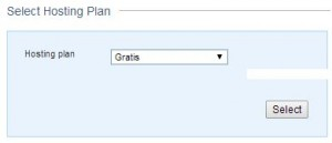 Selecciona el plan de hosting gratis.