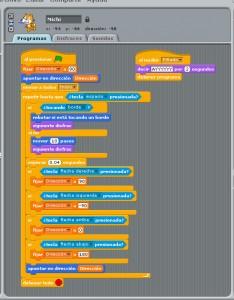 Ejemplo de un programa en Scratch